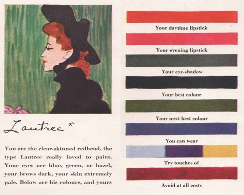 1940s Makeup-to-match-the-Artists-Palette -Lautrec