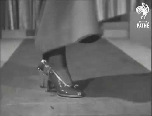 1940s post war fashion - plastic shoes