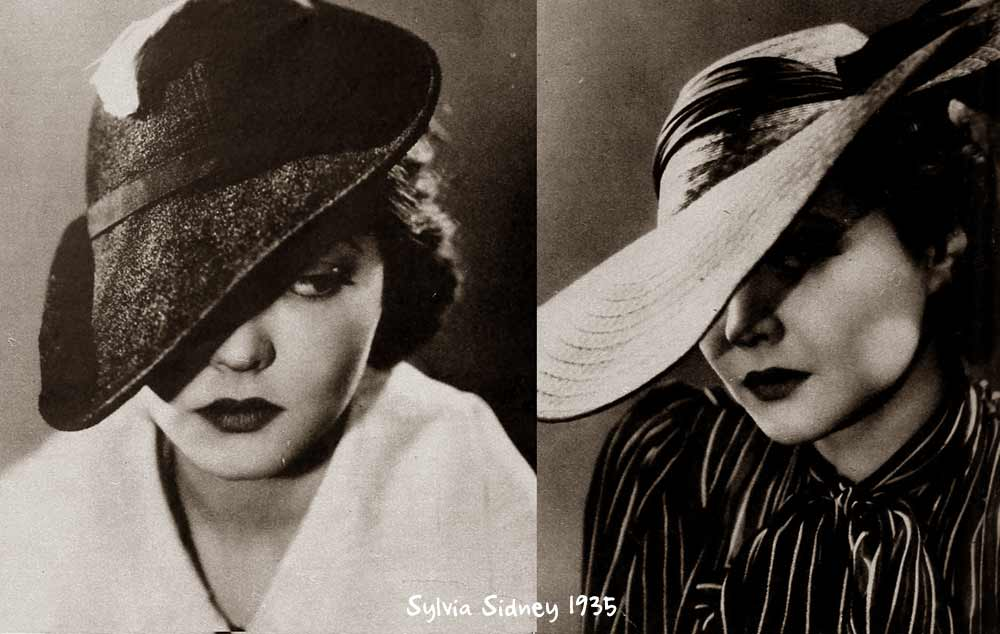 Sylvia Sidney 1930s Hat Style for Spring  03d98a65b48