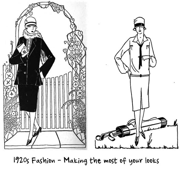 Correct 1920's Clothes for your Width