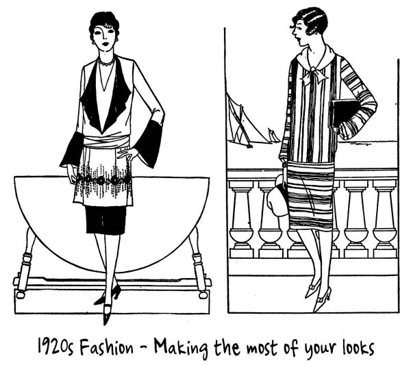 Correct 1920's Dresses for your Height
