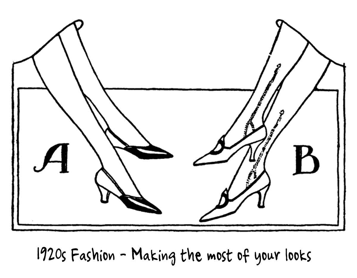 1920s fashion making the most of your looks glamour daze 1970s Entertainment the correct shoes for your foot size