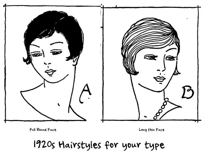 1920s Hairstyles for your type | Glamourdaze