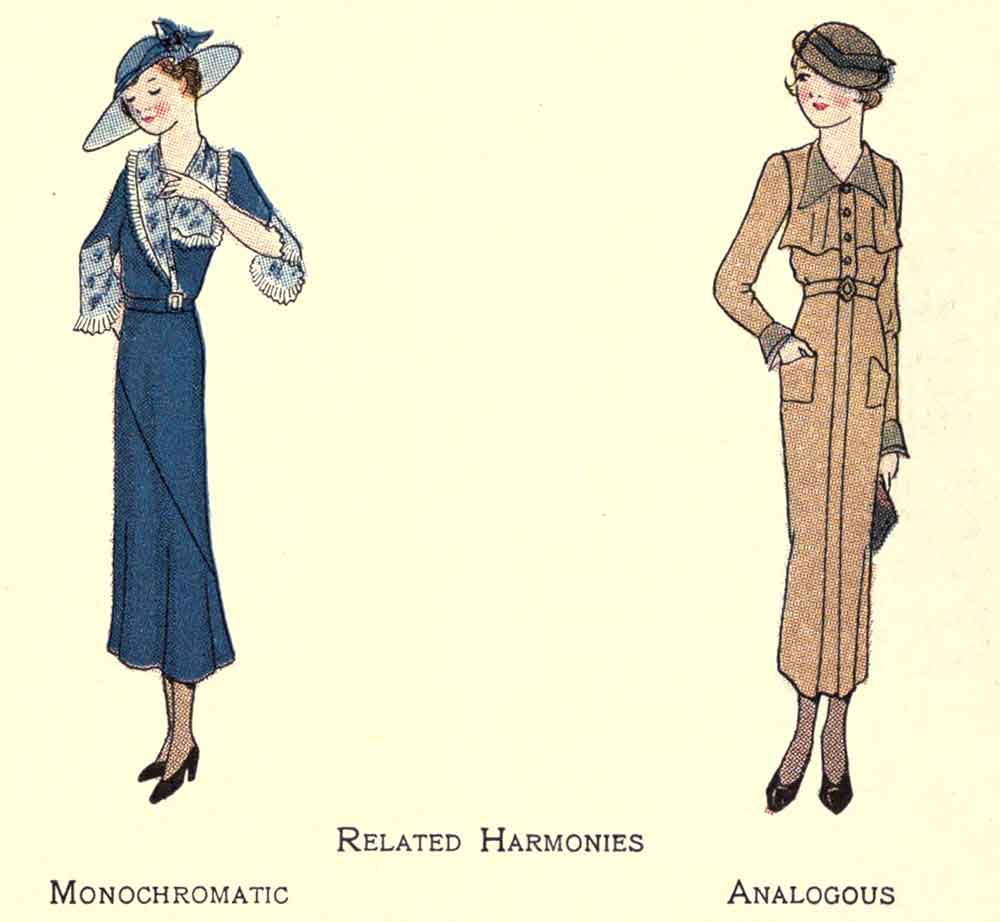 1930s-Fashion---The-Art-of-Color-in-Dress -related harmonies