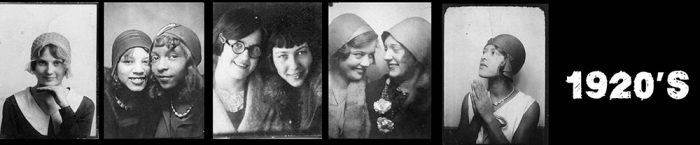 1920's women - self portraits in photo booths