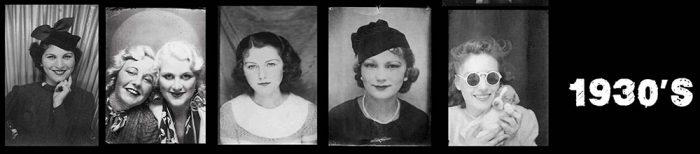 1930's Women - Selfies in photo booths