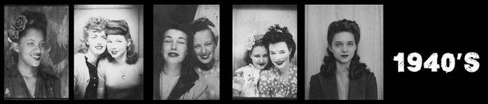 1940's Women - Selfies in photo booths