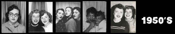 1950's Women - Selfies in photo booths