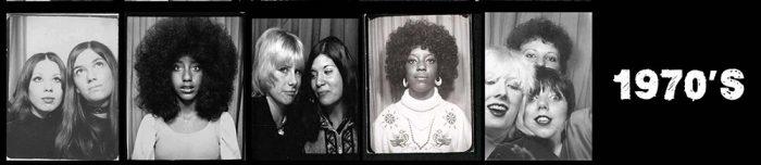 1970's Women - Selfies in photo booths