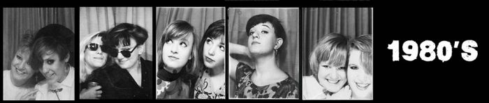 1980's Women - Selfies in photo booths