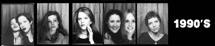 1990's Women - Selfies in photo booths