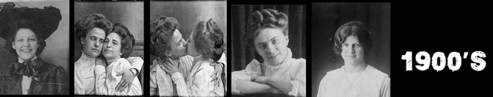 Edwardian women - self portraits in photo booths