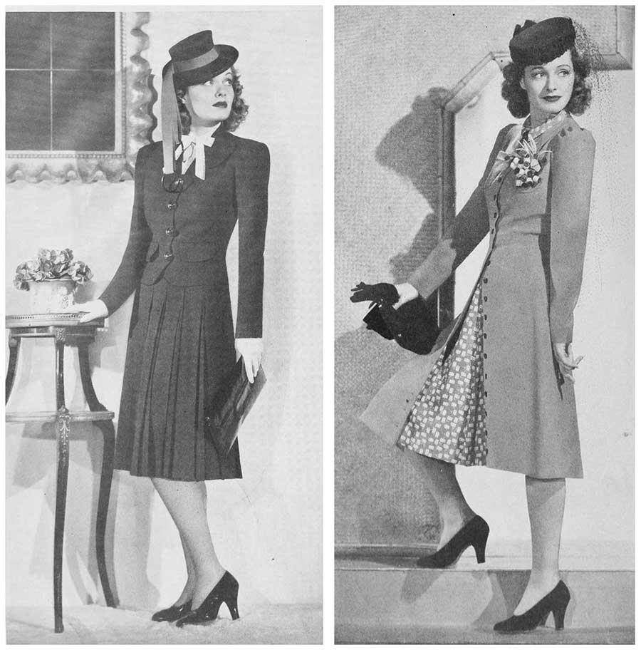 1940s-Fashion---Early-Summer-Suits-1940-Ellen Drew