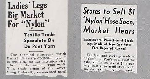 Nylon-hosiery---early-newspaper-reports-1939