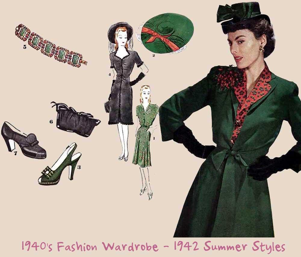 1940's-Fashion-Wardrobe---1942-Summer-Styles-1