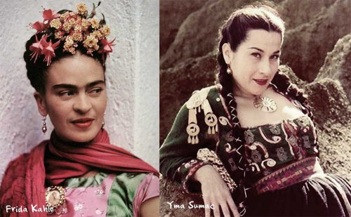 Frida-Kahlo-and-Yma-Sumac---1950s-style-icons