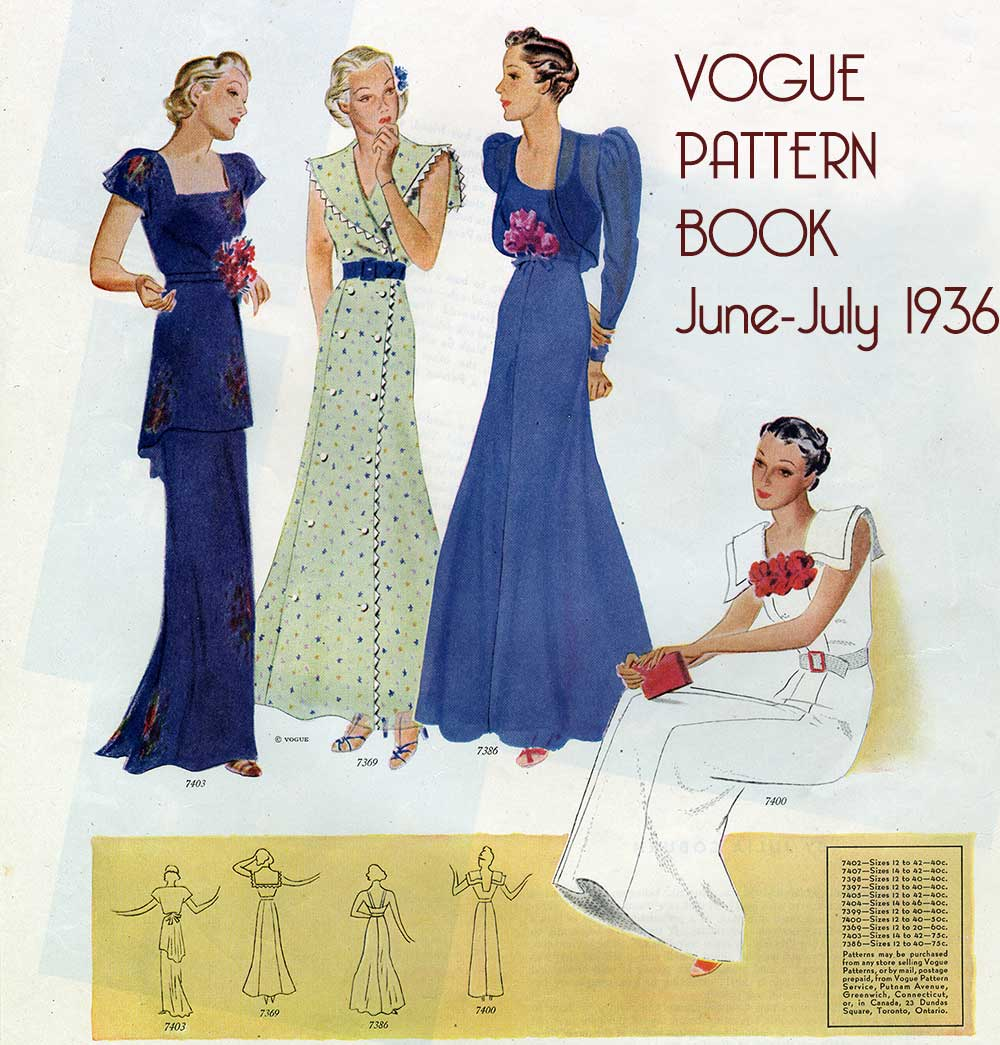 Vogue-Pattern-Book---JUne-July-1936---evening-dresses