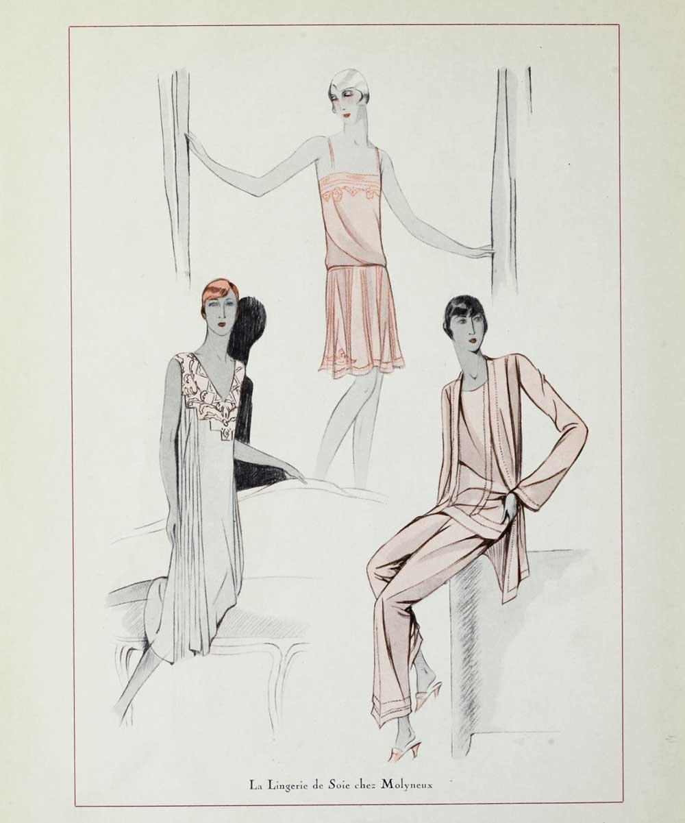 1920s Fashion - Paris 1928 - Lingerie by Molyneux