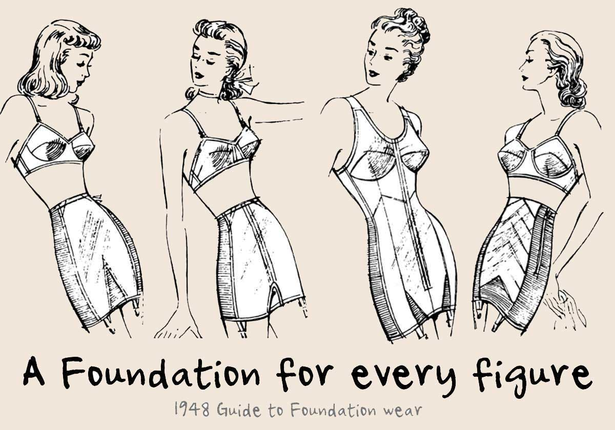 1948-Guide-to-Foundation-wear---4-basic-figure-types