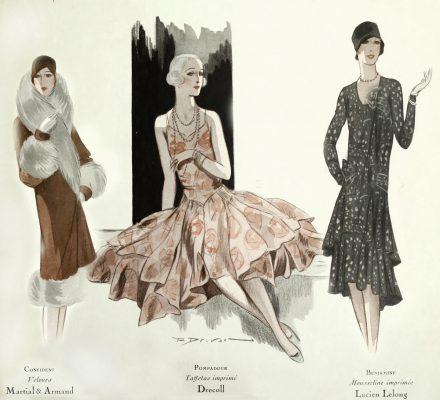 1920s Fashion - Paris 1928 - Drecoll and Lucien Lelong