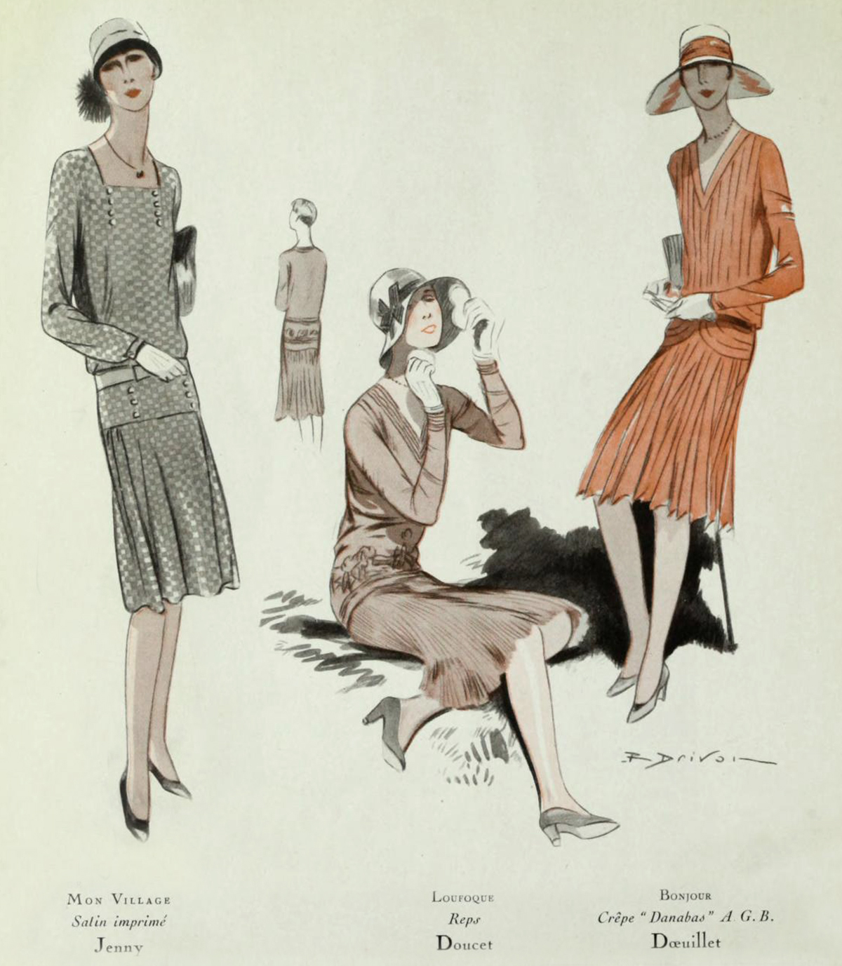 1920s Fashion, Dresses and Clothing - Victoriana Magazine 1920s fashion in paris