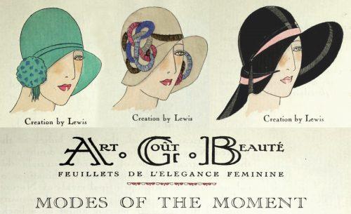 1920s Fashion - Paris 1928 - Hats by Lewis