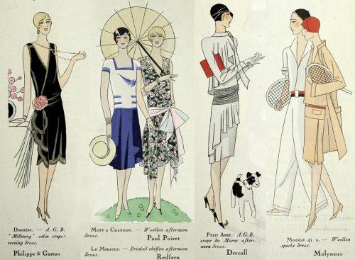 1920s Fashion - Paris 1928 - Redfern and Molyneux