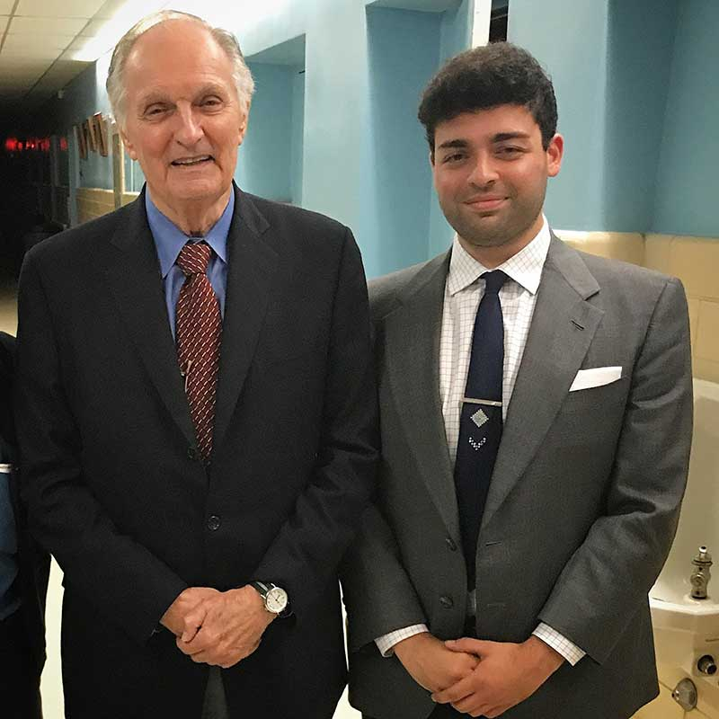Alan-Alda-with-Raj-Tawney-at-Cinema-Arts-Centre