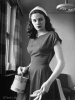 1940s-College-Style - gabardine dress