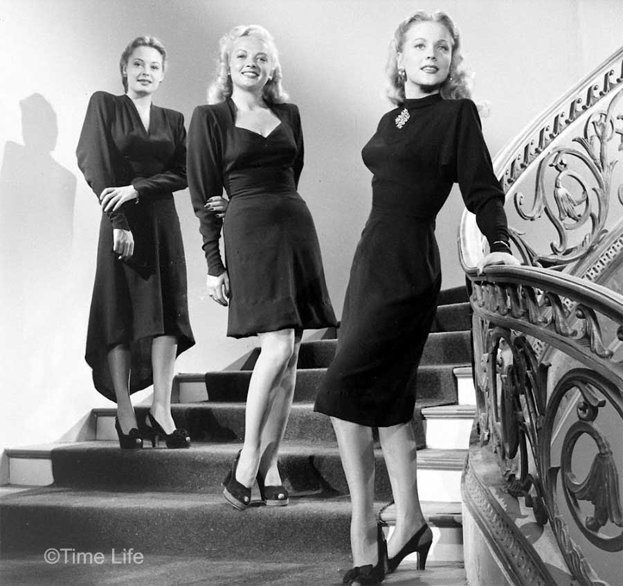 1940s Fashion Dipping Hemlines Glamourdaze