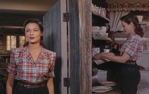 Gene Tierney - Check-shirt-and-jeans - Leave her to Heaven 1945