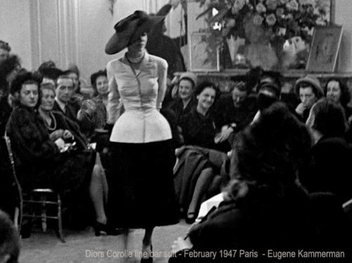 Diors-Corolle-bar-suit-premiere-February-1947-Paris-Eugene-Kammerman