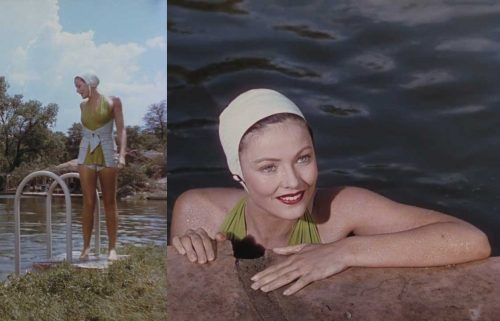 Gene Tierney - Leave her to heaven 1945-green-halterneck-swimsuit