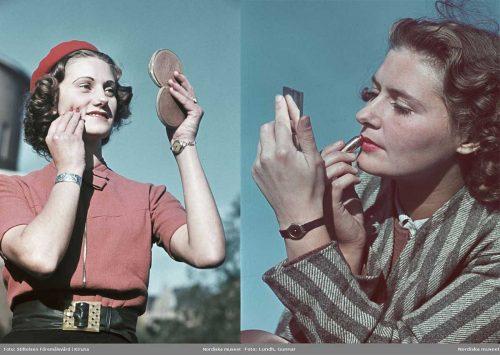 1940s Wartime Women-in-Color---Makeup