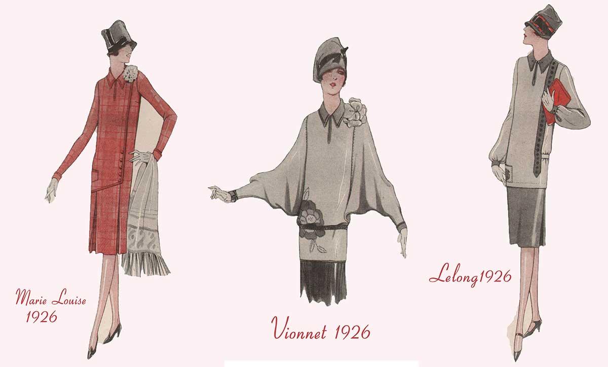 Designer Winter Fashion - Vionnet and Lelong