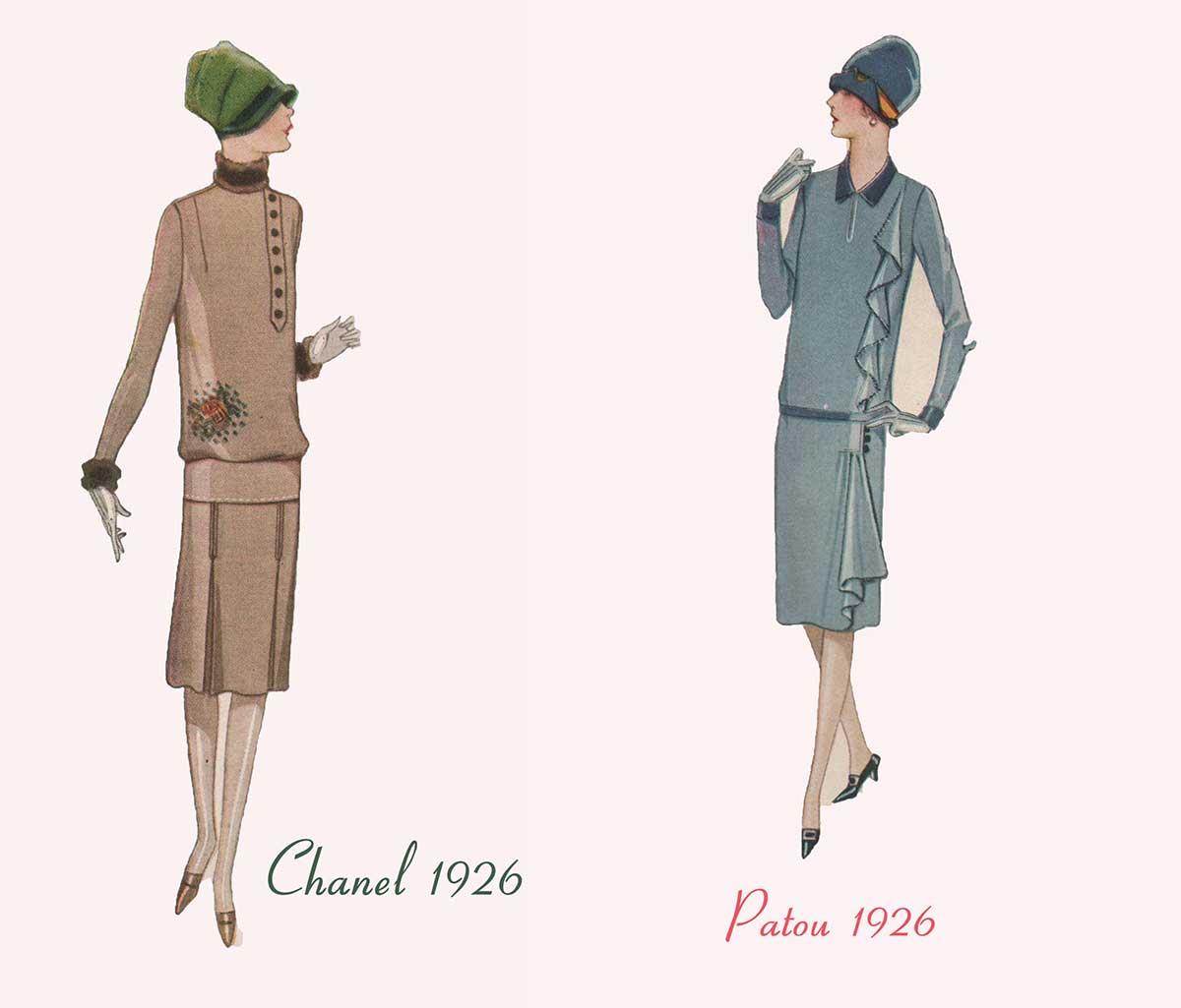 Designer Winter Fashion - Chanel and Patou