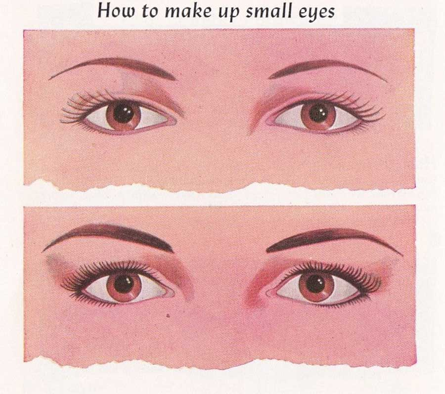 How to apply eye makeup for small eyes