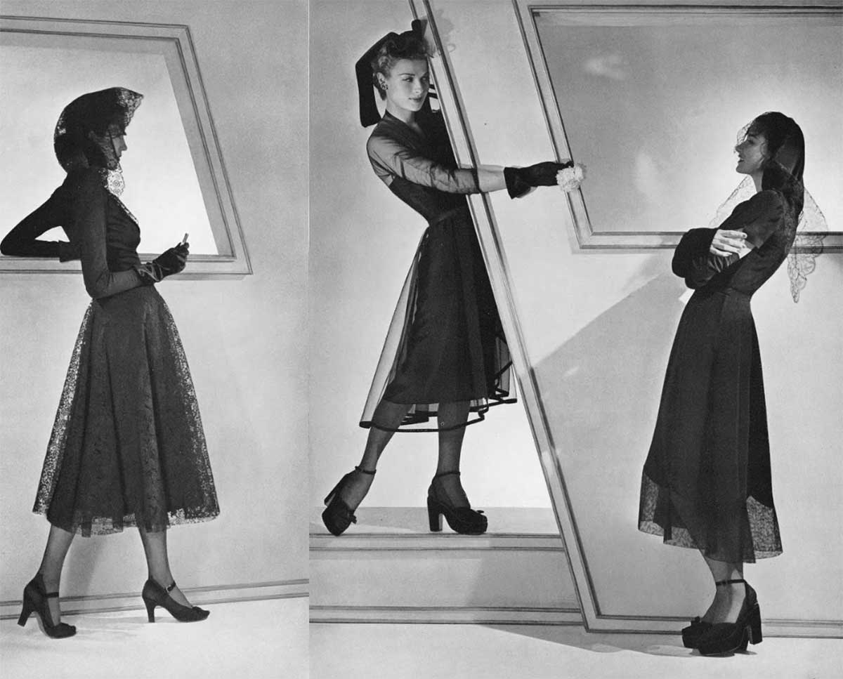 1940s Fashion - Pre-Dior Silhouettes of 1942 - horst-b-horst