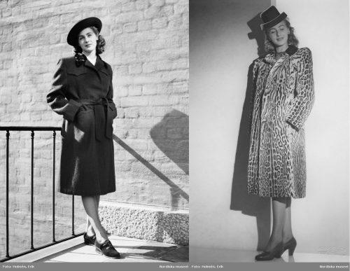 1940s-Coat-Fashion---Gabardine-single-belted-or-Ocelot-Fur