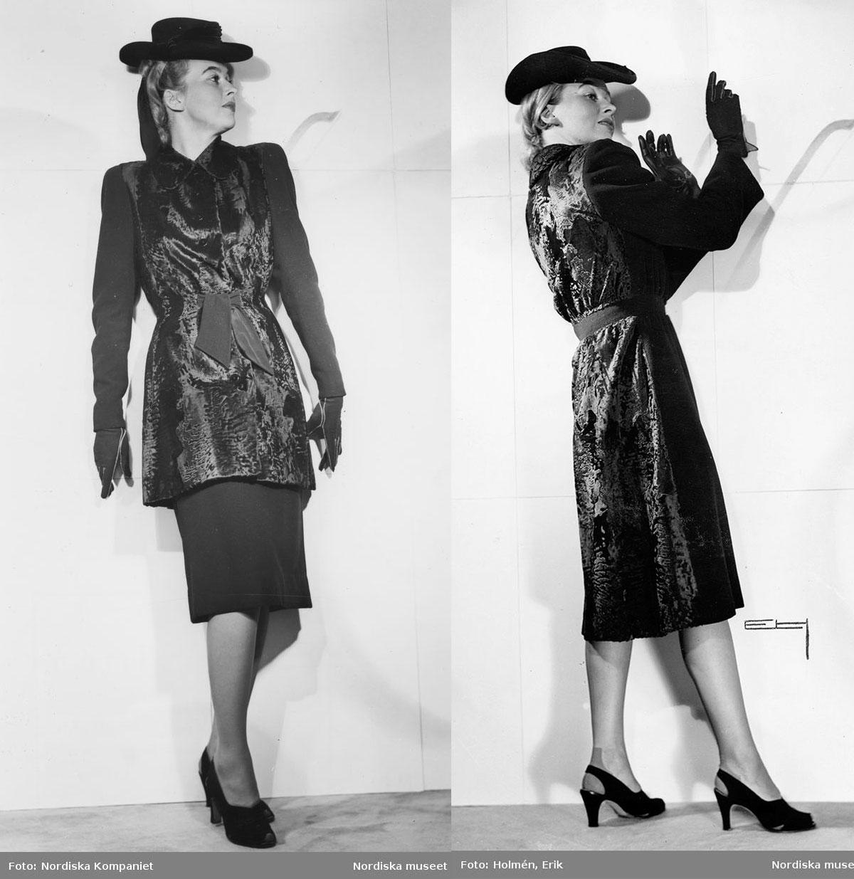 1940s coat fashion - Persian