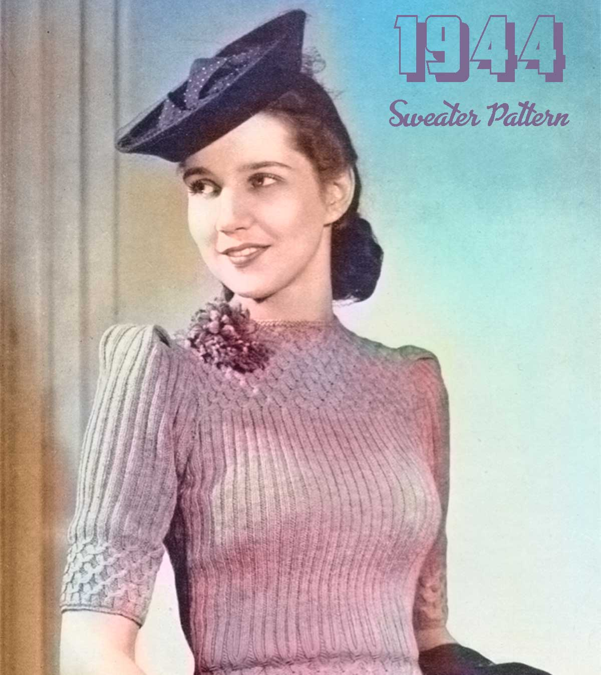 War-Era-Sweater-Pattern-1944 - Patons & Baldwins