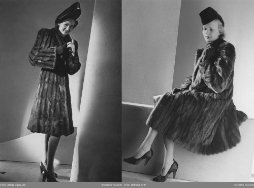 Popular-1940s-mink fur-coat-and-hat-fashions