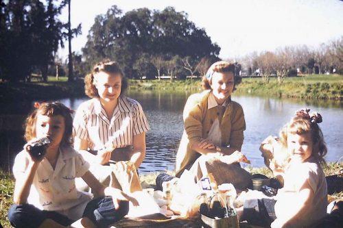Kodachrome Picnic 1940s