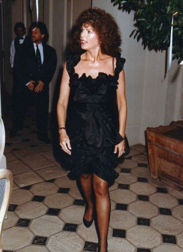 1980's little black dress and permed hair