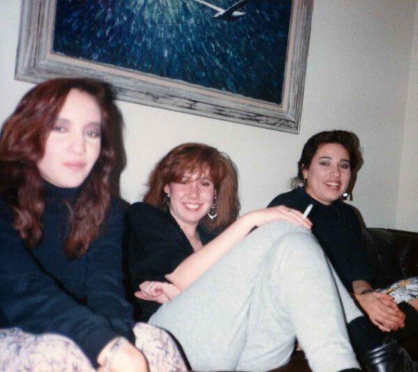 Three girls in the 1980's