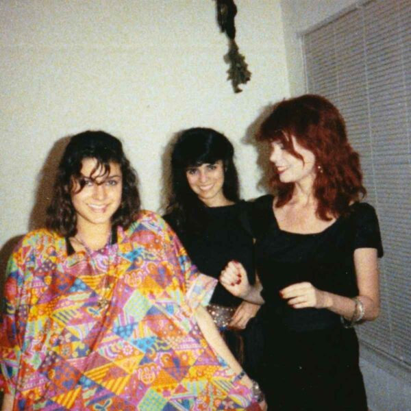 1980's girls getting primped up