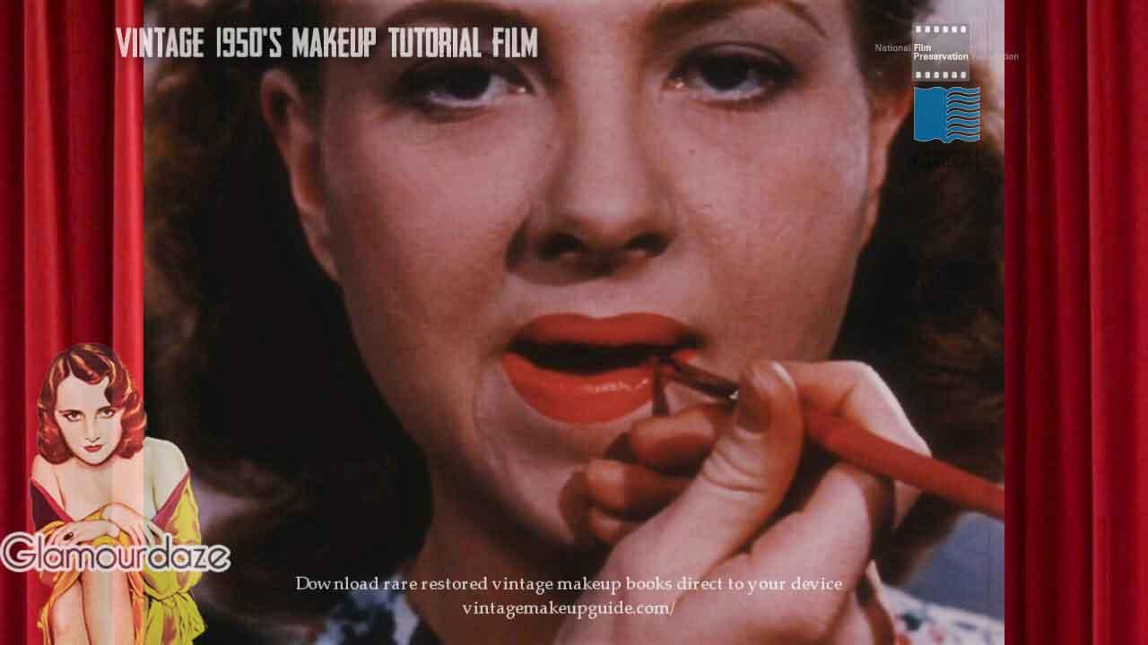 vintage 1950s makeup tutorial film glamourdaze