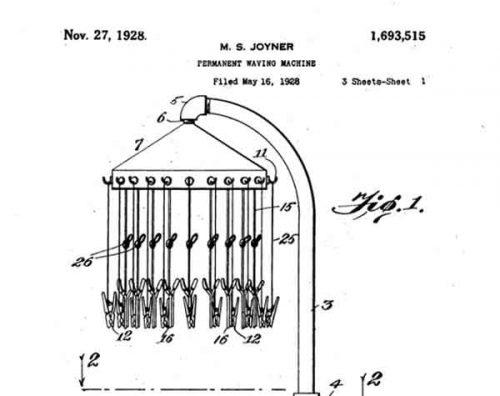 Marjorie-Joyner,-patent-perm-machine-1928