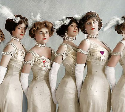 Edwardian girls in color