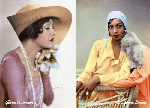 1920s women in color
